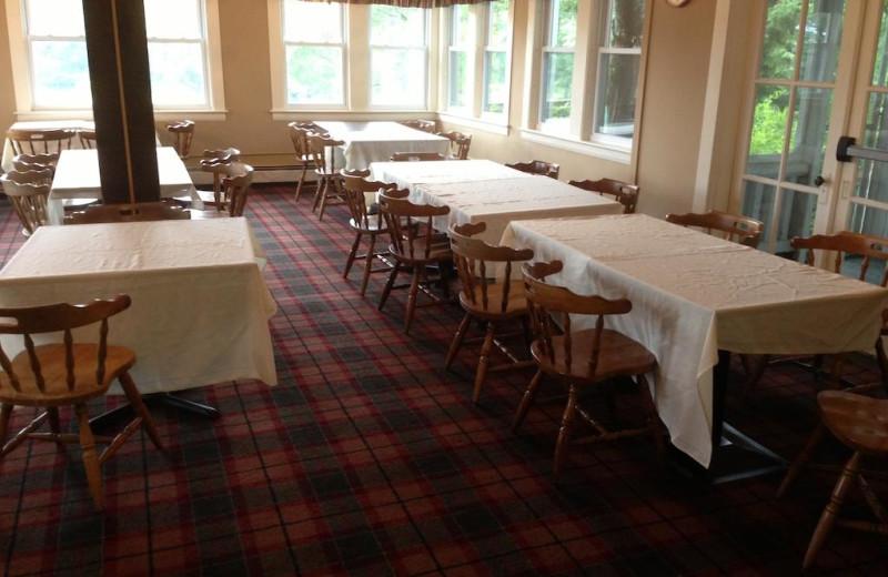 Dining room at Windrifter Resort.