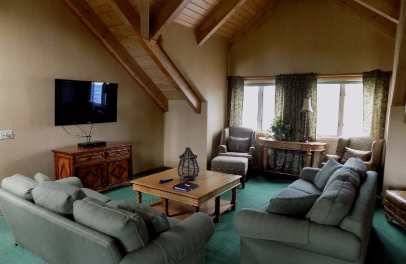 Guest living room at Garland Lodge and Resort.