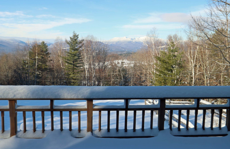 Rental deck at Stowe Country Homes.
