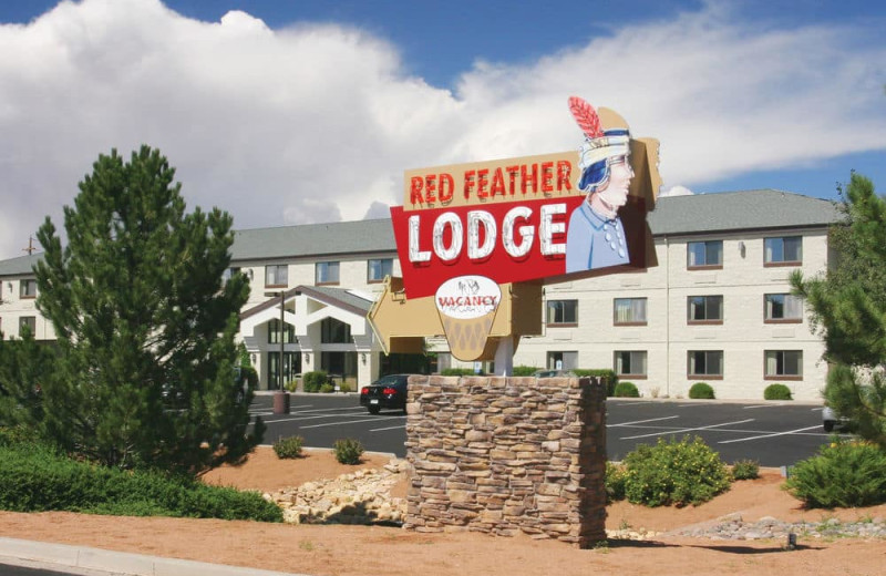 Exterior view of Red Feather Lodge.