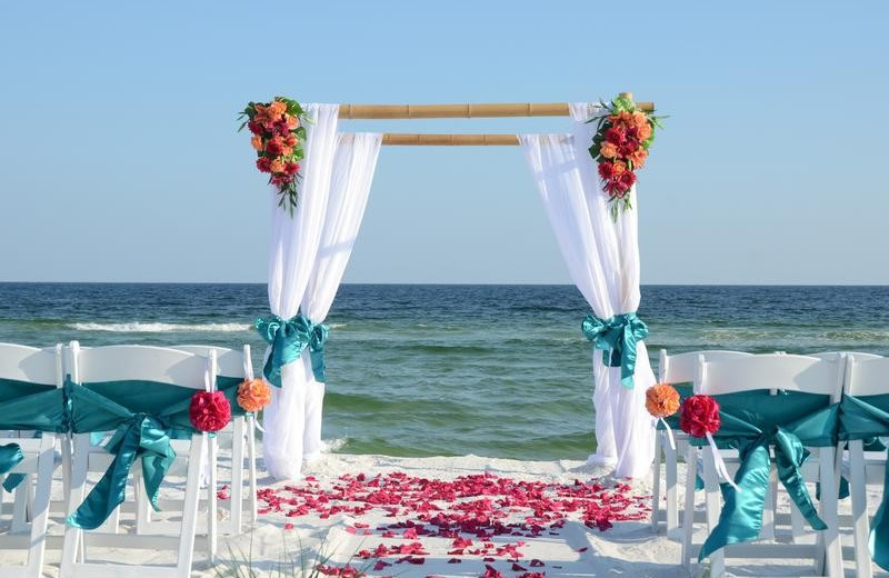 Beach weddings at The Islander in Destin.