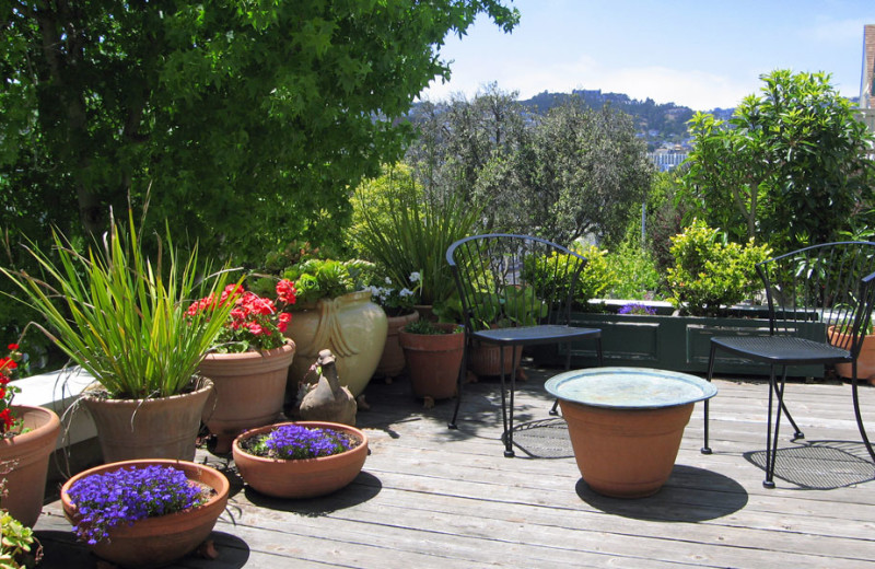 Patio view at Dolores Place.
