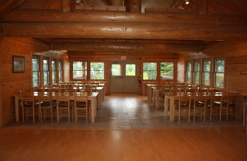 Lodge interior at YMCA Camp Du Nord.