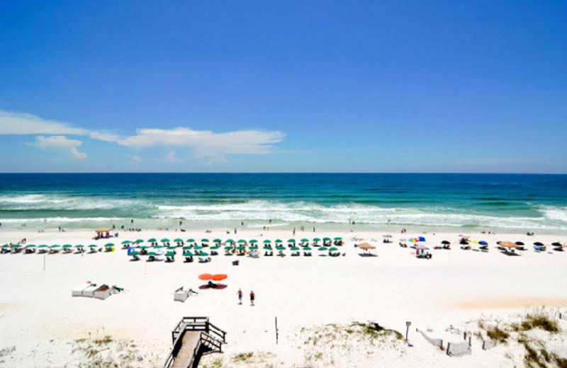 The beach at Best Western Fort Walton Beachfront Hotel.