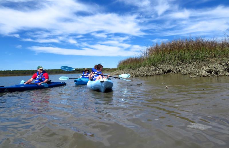 Kayaking at Fripp Island Golf & Beach Resort.