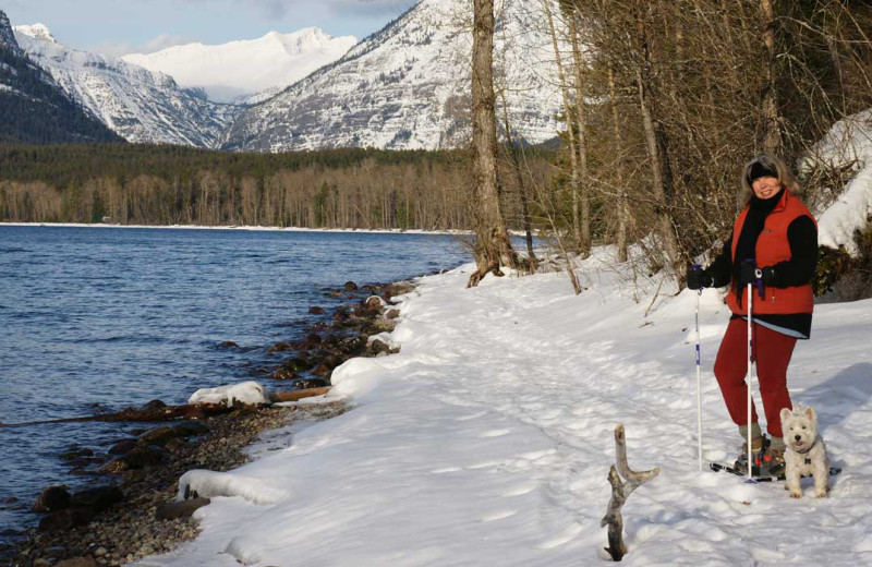 Winter activities at Five Star Rentals of Montana.