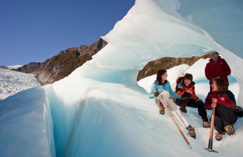 Glacier near Te Weheka Inn Fox Glacier.