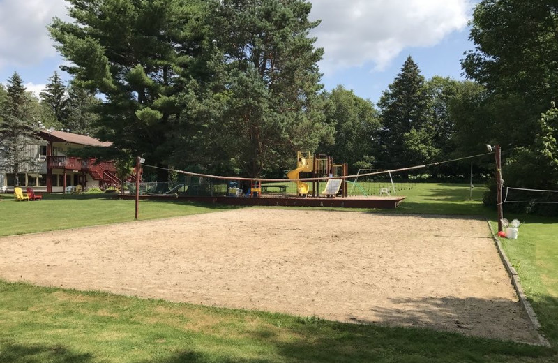 Volleyball court at The Baldwins Resort.