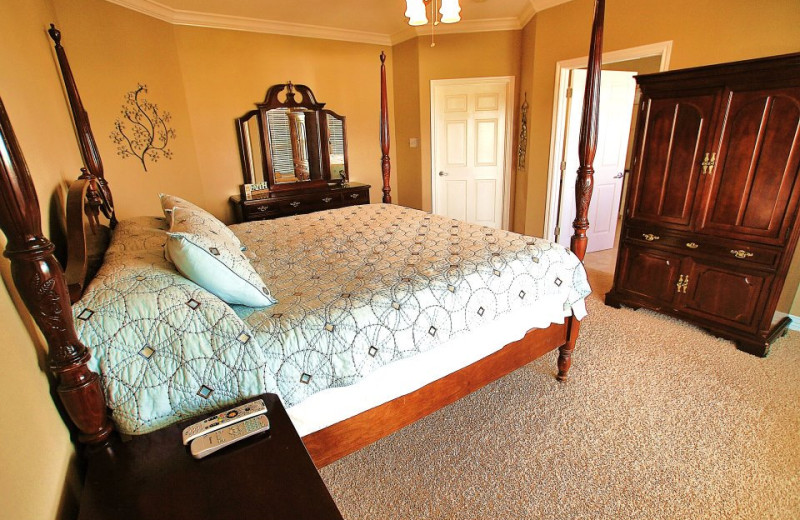 Vacation rental bedroom at Ryson Vacation Rentals.