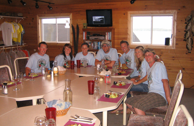 Dining at Ballard's Black Island.