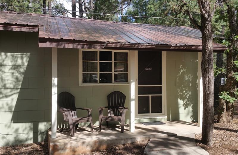 Cabin exterior at Hidden Rest Resort.