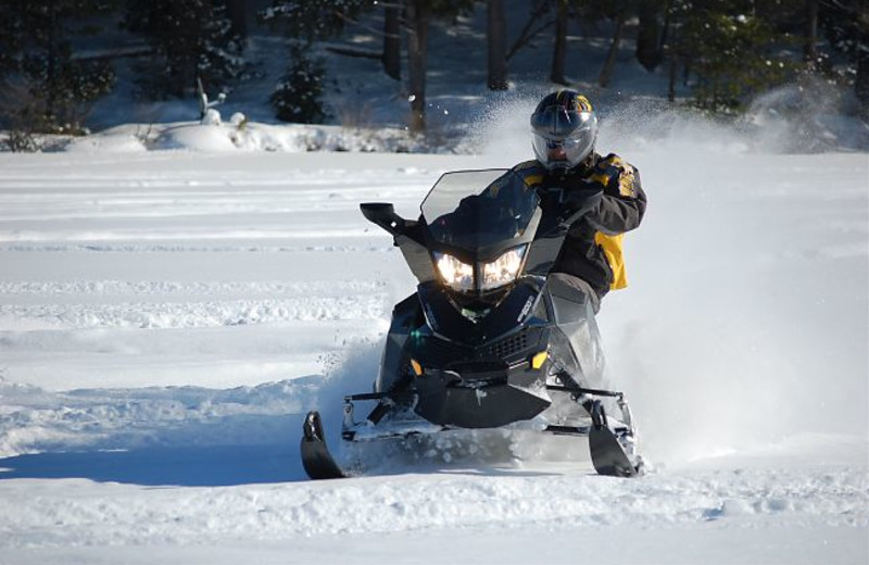 Snowmobiling at JW Marriott The Rosseau Muskoka Resort & Spa.