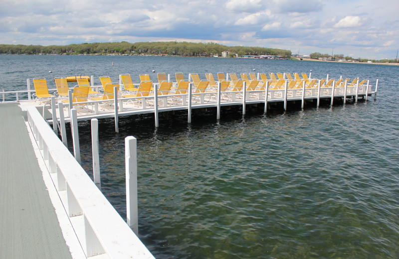 Lounge out on the pier and take in the views of the lake.