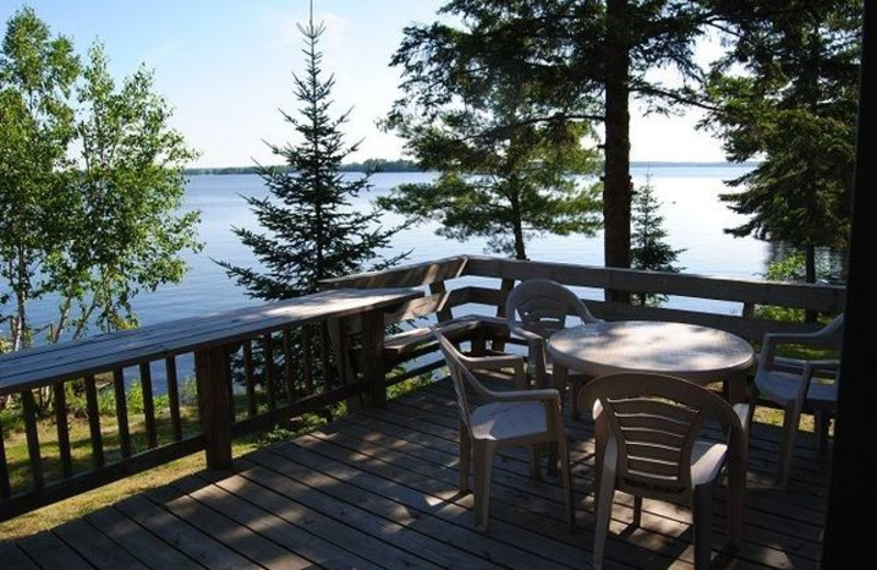 Cabin deck at Grandview of Lake Kabetogama.