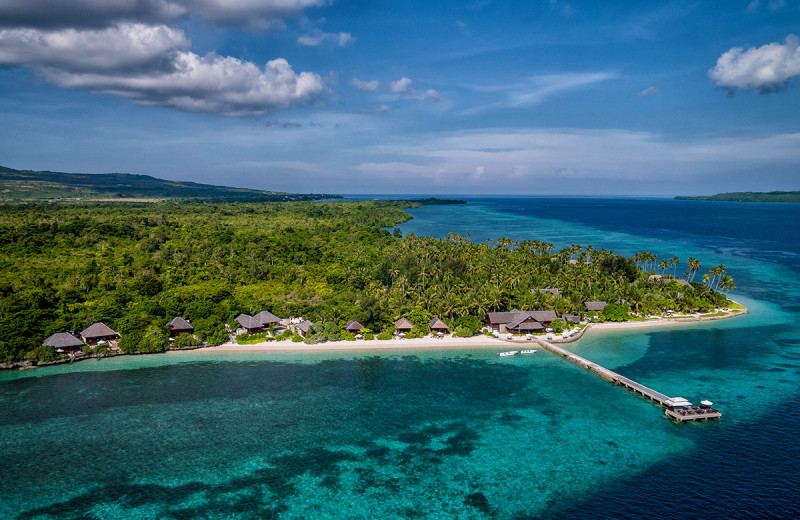 Aerial view of Wakatobi Dive Resort.
