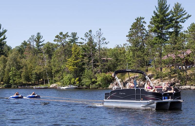 Boating at White Eagle Resort.