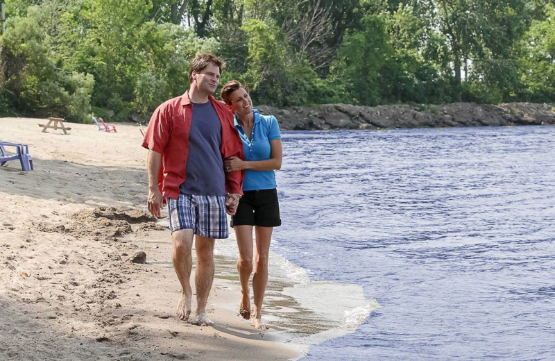 Walk along the beach at Sawmill Creek Resort.