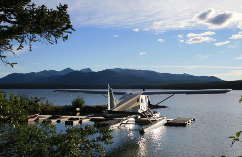 Lake view at Chaunigan Lake Lodge.