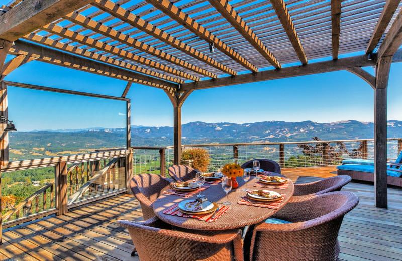 Rental deck at Woodfield Properties.