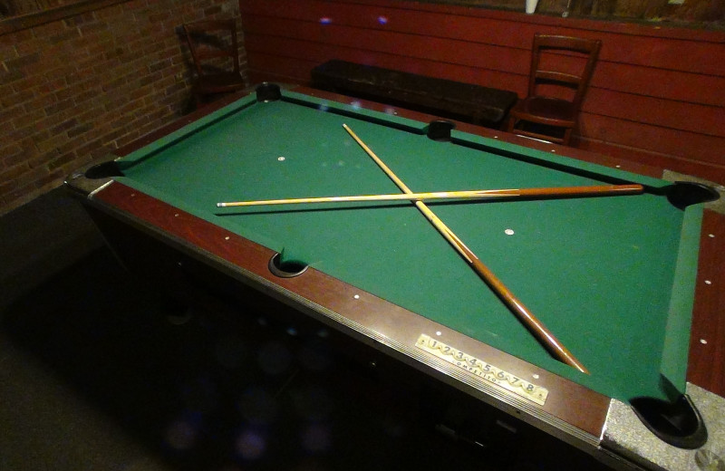 Billiards table at Winter Clove Inn.