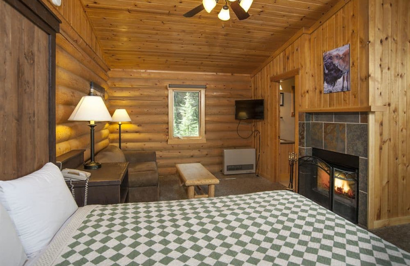 Cabin with fireplace at 320 Guest Ranch.