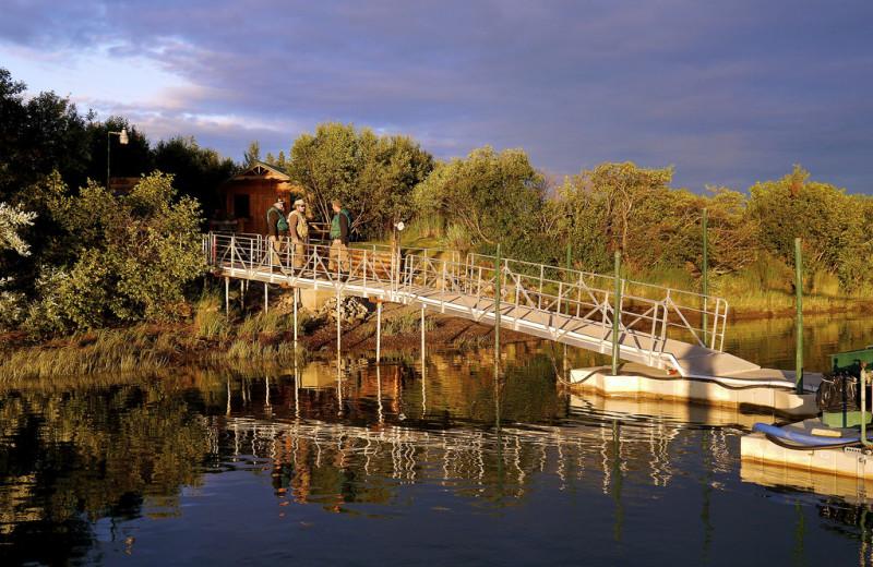Dock at Alaska Rainbow Lodge.