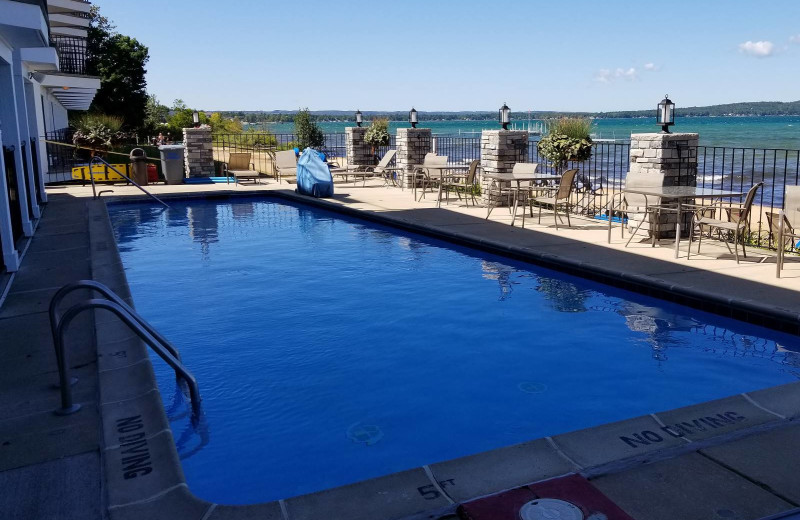 Outdoor pool at Pointes North Beachfront Resort Hotel.