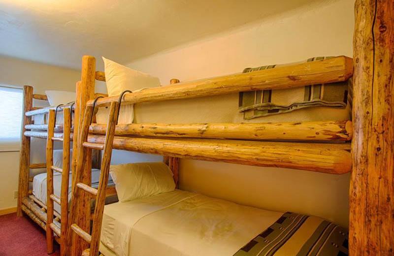 Guest bunk beds at Grand Targhee Resort.