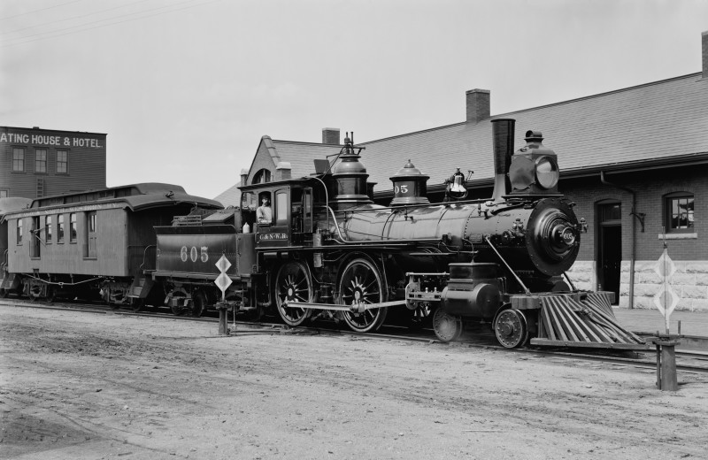 Train near Rushmore Express Inn & Family Suites.