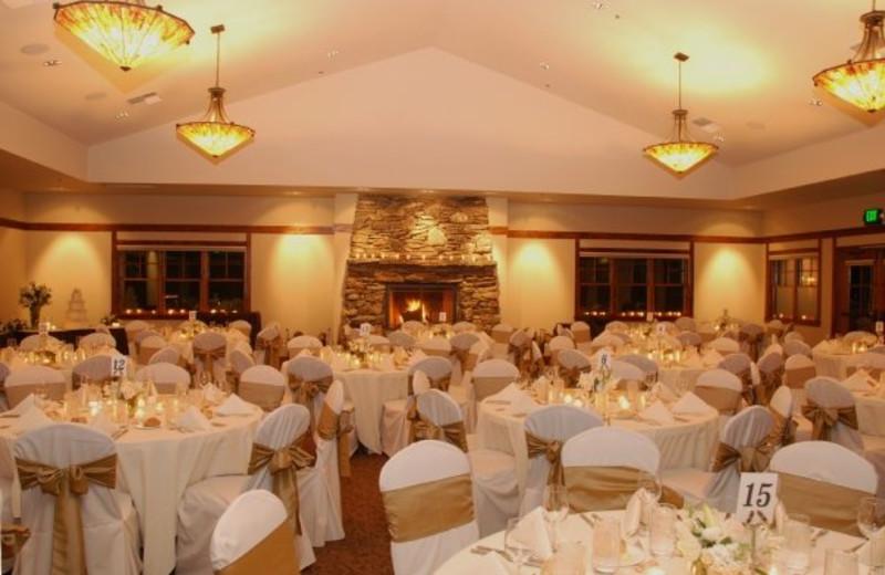 Wedding reception at FivePine Lodge.