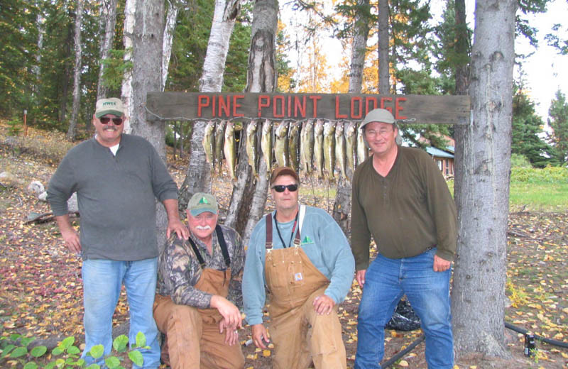 Fishing at Pine Point Lodge & Outposts.