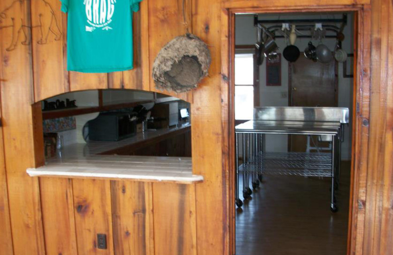 Kitchen entry at Pinecrest Camp Lodge.