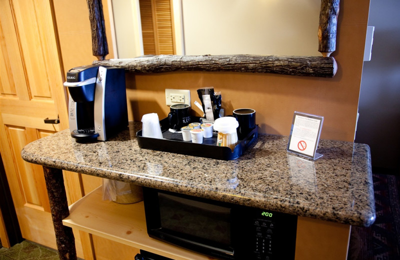 Suite amenities at The Heathman Lodge.
