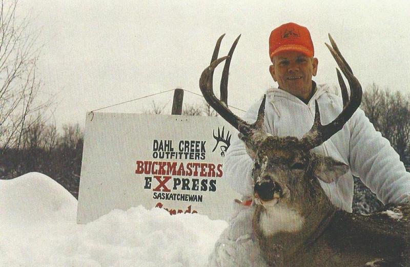 Deer hunting at Dahl Creek Outfitters.