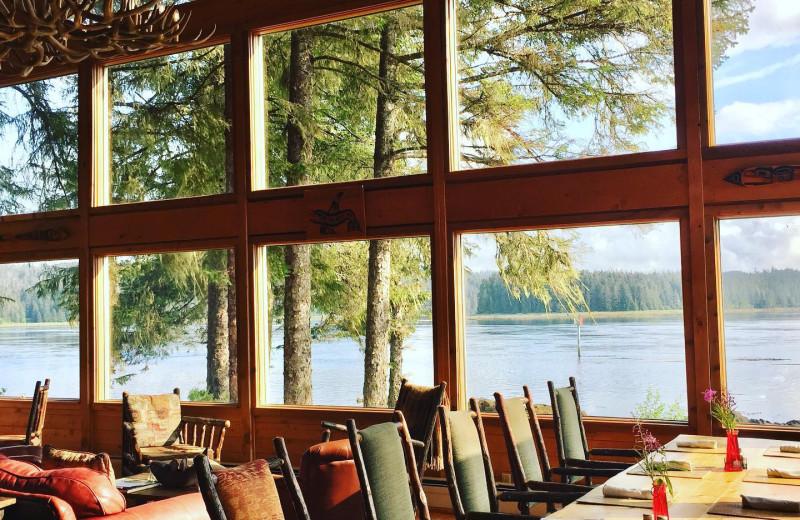 Dining at Favorite Bay Lodge.