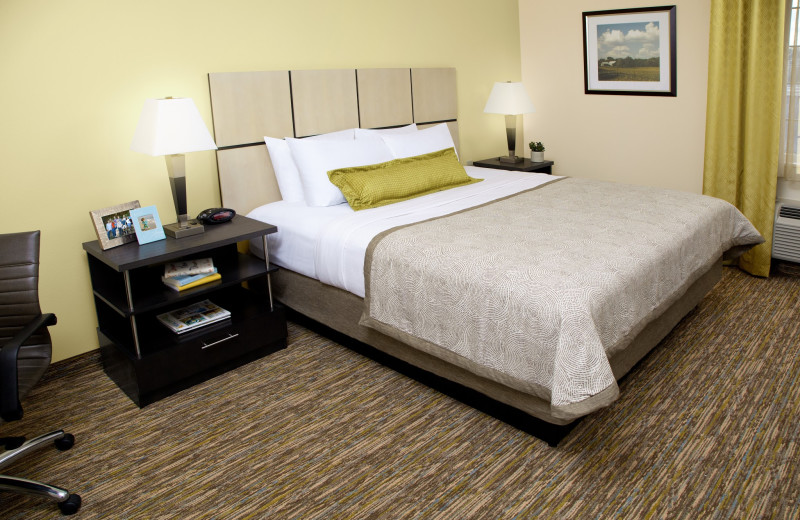 Guest room at Candlewood Suites DETROIT-ANN ARBOR.