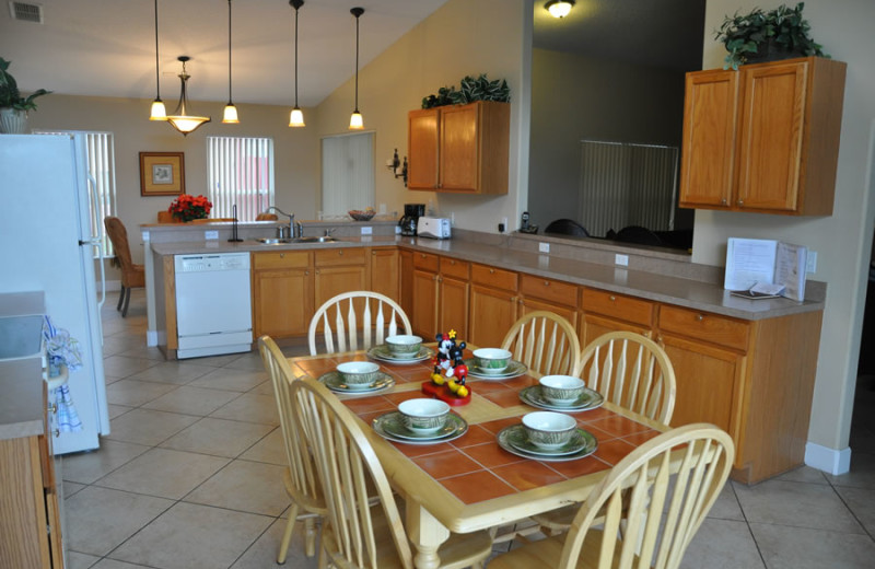 Rental kitchen at Sunkiss Villas.
