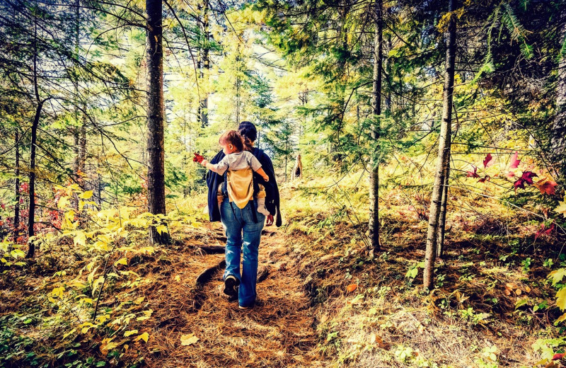 Hiking at Timber Ridge Lodge & Waterpark.