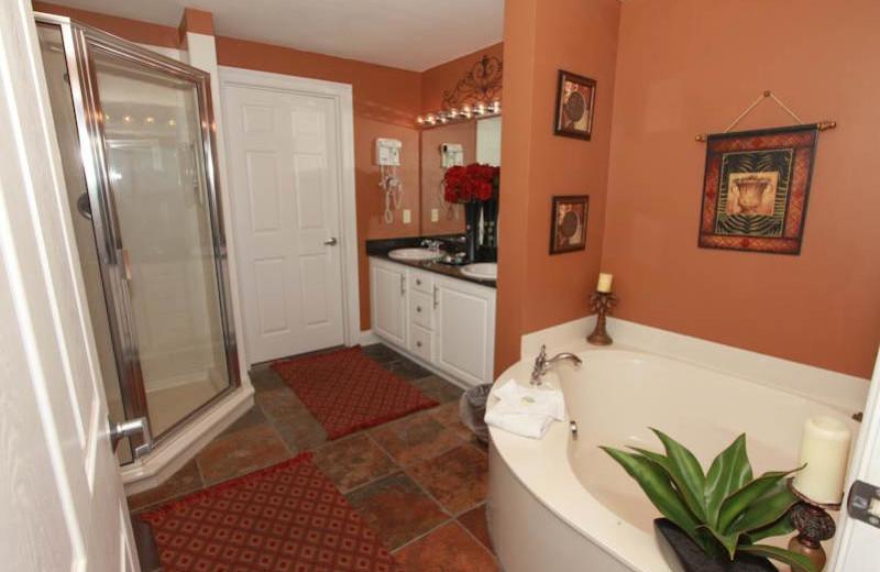 Guest bathroom at Calypso Resort & Spa.