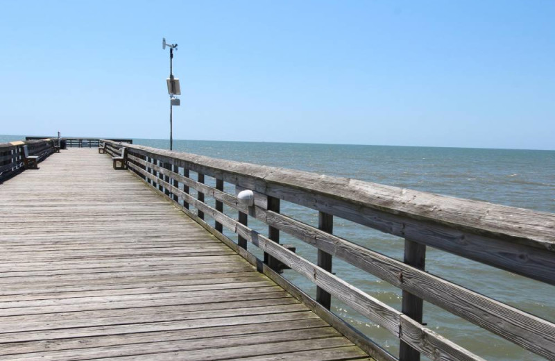 Fishing pier at Island Realty.