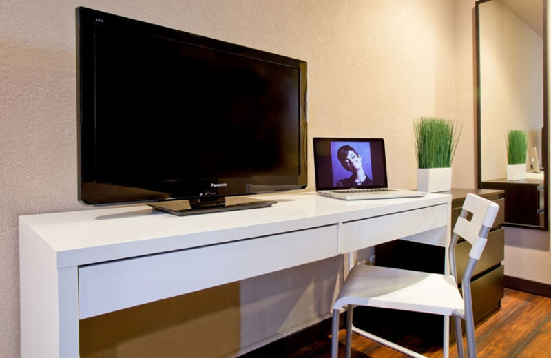 Flat Screen Television in Guest Room at Alura Inn