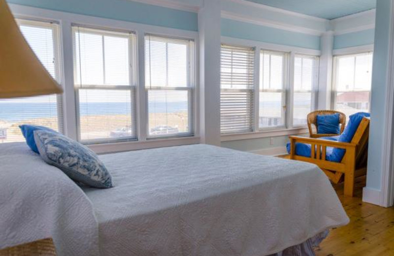 Guest room at The Ocean House Hotel & Motel.