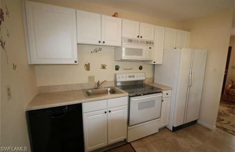 Rental kitchen at Tri Power Resort Rentals.