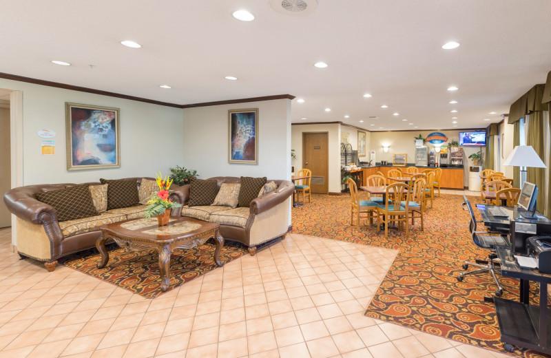 Lobby at Baymont InnSuites.