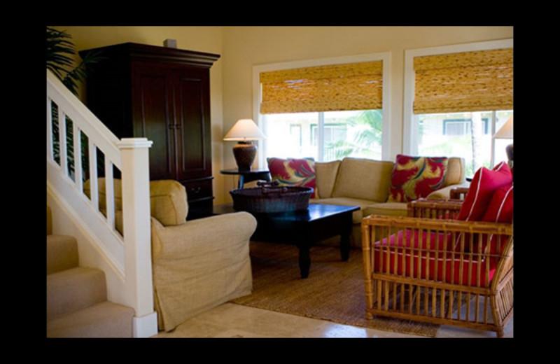 Guest living room at Luxury Kauai Condos & Villas.