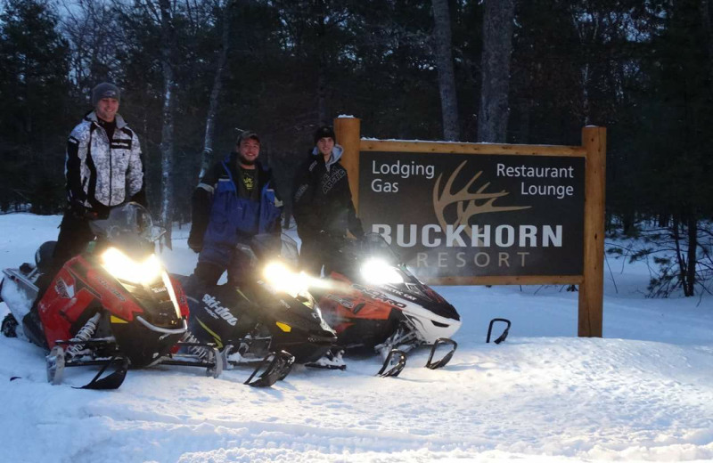 Snowmobiling at Buckhorn Resort.
