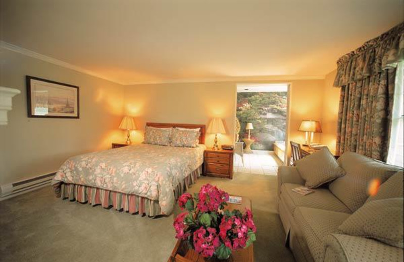 Guest room at Crescent Lodge.