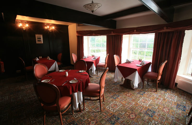 Restaurant at Marshall Meadows Country House Hotel.