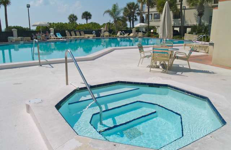 Outdoor pool at Resort Rentals.