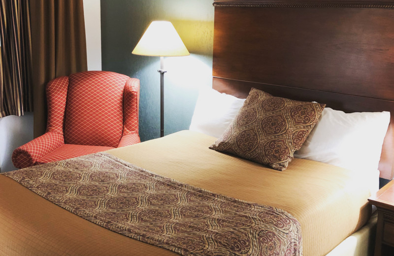 Guest room at Jorgenson's Inn & Suites.